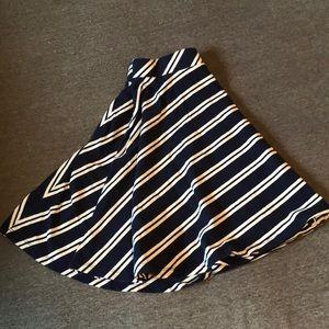 Navy blue and white skirt